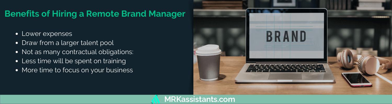 benefits of hiring remote digital brand manager