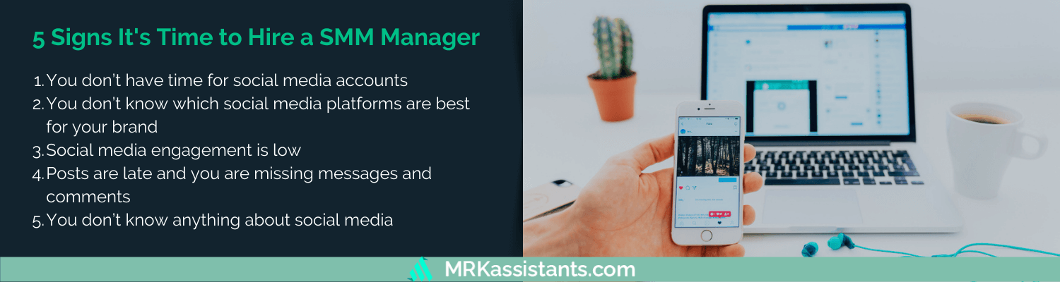 signs it's time to hire a social media manager